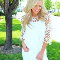 Lacey Lu Dress White *CLEARANCE* - Modern Vintage Boutique