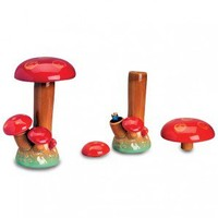 Magic Mushroom Ceramic Stealth Water Pipe - 22cm - Amsterdam Souvenirs - 420 Lifestyle Apparel  - Grasscity.com