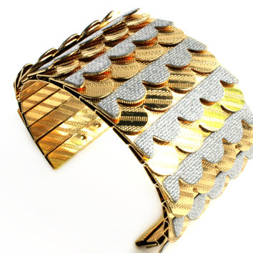 """Scaled To Perfection"" Gold And Silver Cuff"