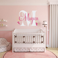 Fairy Name Wall Decal, Personalized Name Decal, Girls Name Decal, Fairies Wall Decal,  Nursery Name Decal, Fairy Decor, Princess