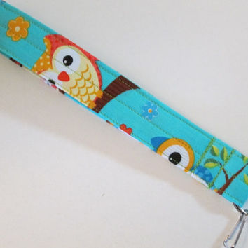 Cute Owl Key FOB with D Ring, Owl Key Chain with D Ring, Key Lanyard, Owl Lanyard with D Ring