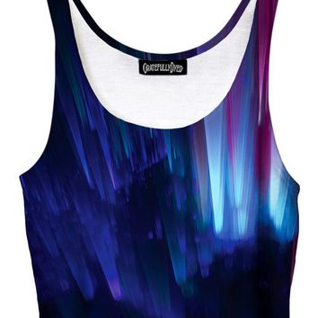 Northern Lights Galaxy Crop Top