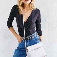 Silence + Noise Roll Clutch Crossbody Bag