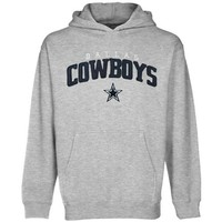 Dallas Cowboys Youth Post Route Pullover Hoodie - Ash