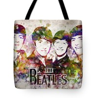 "The Beatles in Color Tote Bag for Sale by Aged Pixel (18"" x 18"")"