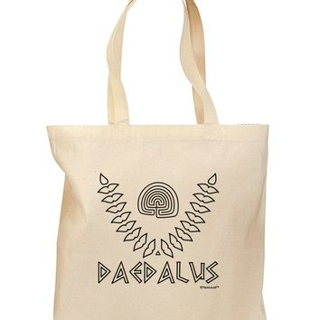 Labyrinth - Daedalus - Greek Mythology Grocery Tote Bag by TooLoud