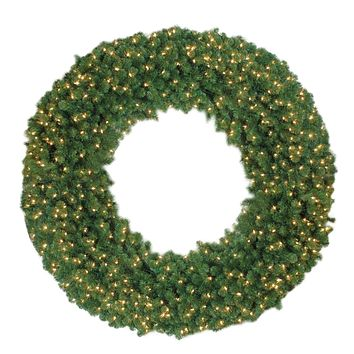 6' Pre-Lit Artificial Olympia Pine Commercial Christmas Wreath - Clear Lights