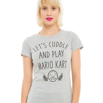 Mario Kart 8 Cuddle And Play Girls T-Shirt