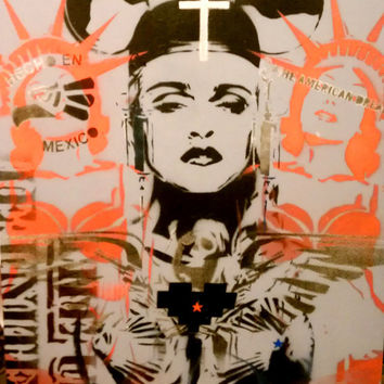 AMERICON: Socal Pop Culture Mashup with Madonna Mickey Mouse Statue of Liberty