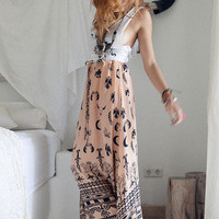 Boho Tribal Maxi - Peach | Spell