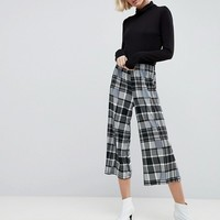 ASOS Jersey Crepe Culottes in Check at asos.com