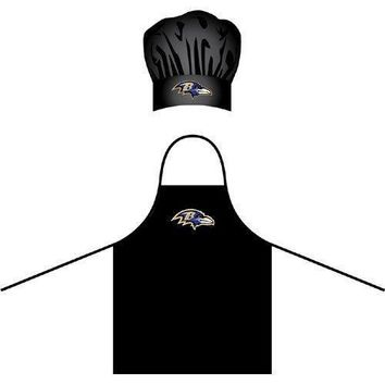 Baltimore Ravens NFL Barbeque Apron and Chef's Hat