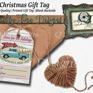 Christmas Gift Tags | Printed | 3.5x2 | Matte | 110 lb Card Stock |  One Side Printing Only | Quality Thickness | Christmas | Vintage