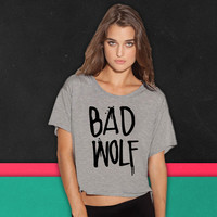 Dr Who Bad Wolf boxy tee