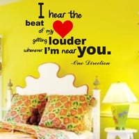 SALE One Direction vinyl wall decal Song lyrics by VineL on Etsy