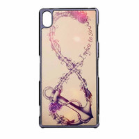 Infinity Flower Anchor Refuse To Sink Design Sony Xperia Z3 Case