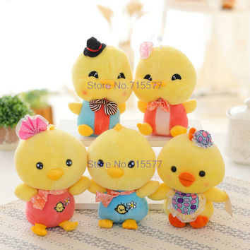 20 cm New Style Girl/Boy Duck Plush Toys Chicken Bowtick Cloth Doll Stuffed Plush Animals