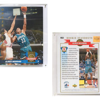 """Charlotte Hornets Alonzo Mourning 8""""x10"""" Upper Deck Blow-Up Card with Acrylic Display"""