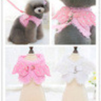 Pearl Collar Leash Vest for your Fluffy Puppy
