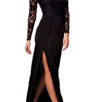 Going Out Black Lace Dress