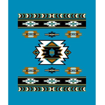 Southwest Blue 487 Native TOR King Blanket - Free Shipping in the Continental US!