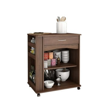 Oxford 1-Drawer Mobile Microwave Cart