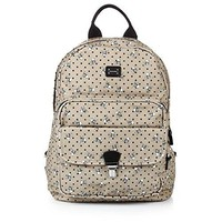 Dolce & Gabbana Beige Leather Trim Men's Backpack Bag