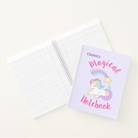 Magical Unicorn with Rainbow Shooting Star Notebook