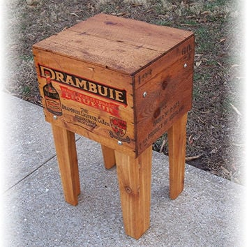 Shipping Crate TABLE  DRAMBUIE 2 Liqueur Co Ltd by MrsRekamepip