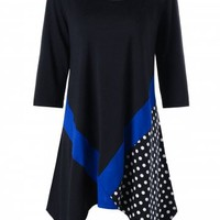 Plus Size Polka Dot Tunic Top