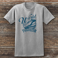 World Traveler Tshirt, EPCOT Shirt, Disney T-shirt, Disney Shirt, Spaceship Earth Shirt, Disney World Shirt
