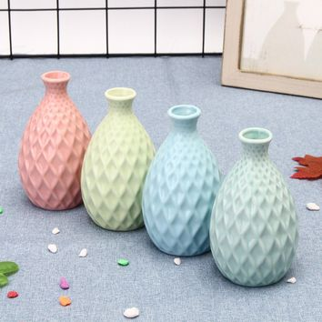 New Fashion Ceramic Flower Plant Vase Porcelain Craft Home Office Table Decoration Art Ornament