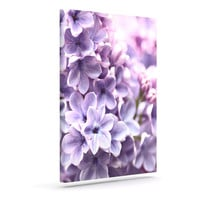 "Sylvia Cook ""Lilac"" Purple Flowers Outdoor Canvas Wall Art"