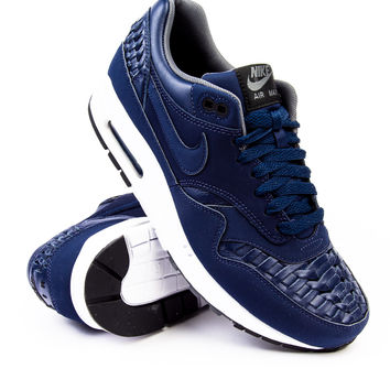 Nike Air Max 1 Premium Woven Midnight Navy/Black Sneaker