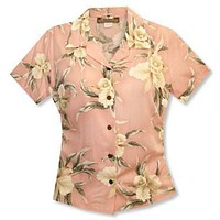 melon hawaiian lady blouse