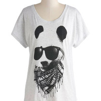 ModCloth Quirky Mid-length Short Sleeves Hip to Be Bear Tee
