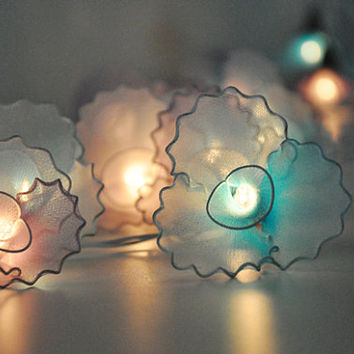 Pink and Blue flower string lights for party and decoration (20 bulbs)