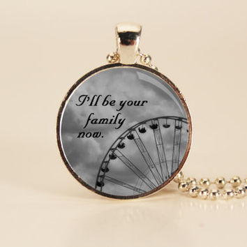 DIVERGENT Quote Charm Necklace by TheWhiteSpace on Etsy