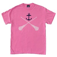 Girls Anchor Tee - Pink | Lacrosse Unlimited