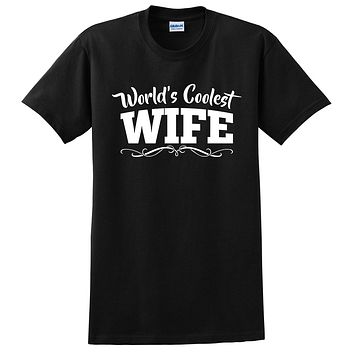 World's coolest wife birthday anniversary gift ideas for her wedding gift couple just married T Shirt