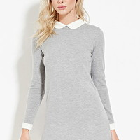 Collared Wool-Blend Dress
