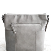 Lilly Crossbody Purse In Grey