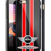 Top Mini Cooper Red Stripe Case For iPhone 6 6+ 6s 6s+ 7 7+ 8 8+ X Samsung Cover