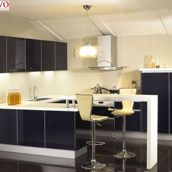 Compact lacquer kitchen cabinet