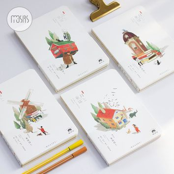 New sketch book Cute school Notebook paper 80 sheets Sketchbook for Drawing Painting Office School Supplies Gift