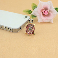 Sweet Rhinestone Decorated Women's Tortoise Shape Cellphone Dustproof Plug (Color: Multicolor) = 1841742468