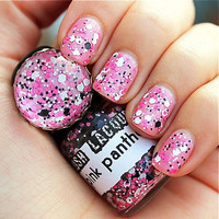 Pink Panther   CustomBlended Glitter Nail Polish / by lushlacquer