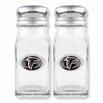 NFL Falcons Glass Salt and Pepper Shakers - Etching Personalized Gift Item