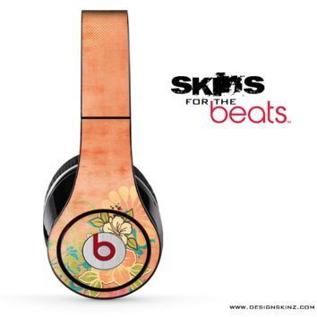Orange Flower Illustration Skin for the Beats by Dre