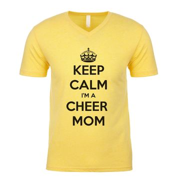 Keep Calm I'm A Cheer Mom  Men's V Neck